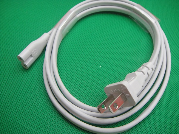 Genuine Apple 622-0301 C7 plug power supply retractable Cable 2-prong Outlet Laptop Cord Original